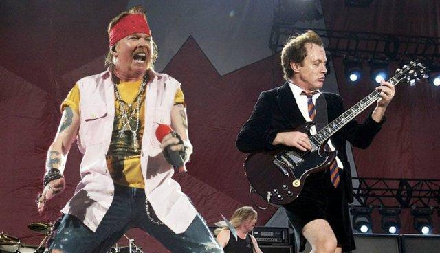 Axel Rose ensaya con AC/DC para terminar su Gira Rock Or Bust