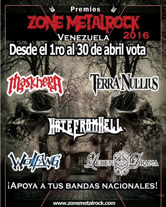 Premios Zone Metal Rock 2016