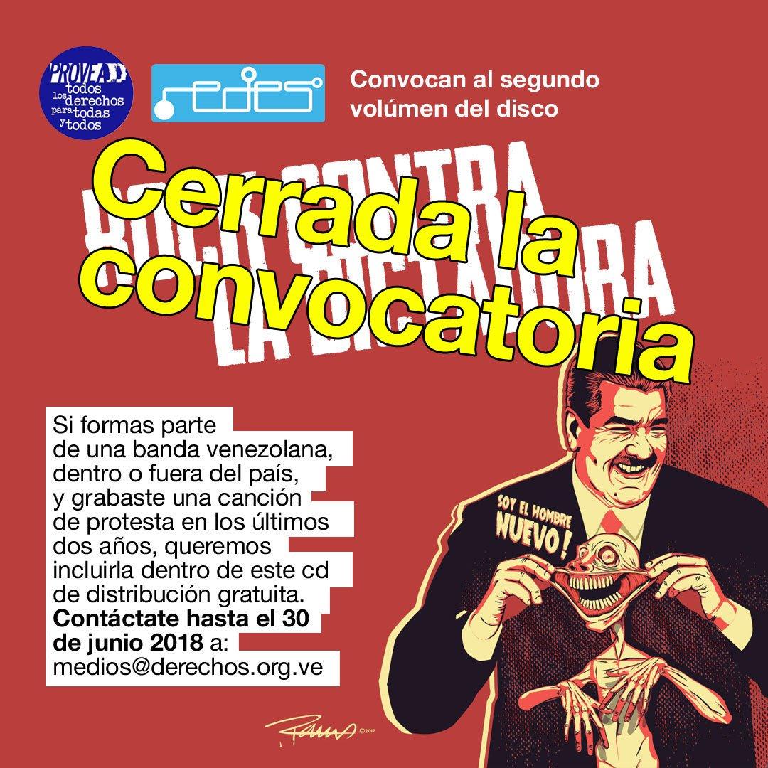 """Bandas que estarán en el 2do Cd de """"Rock Contra la Dictadura"""""""