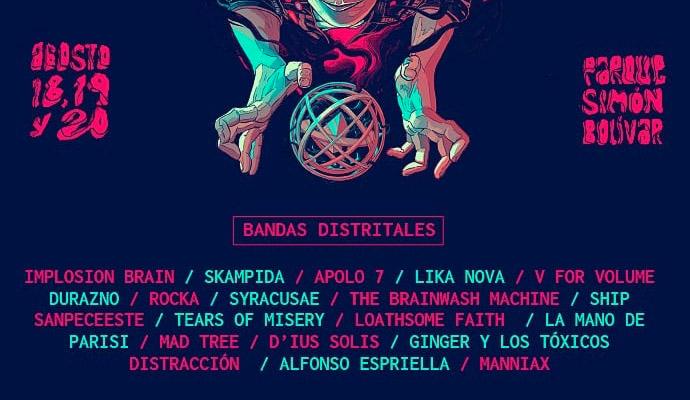 Bandas distrital ganadoras de Rock al Parque 2018 Colombia