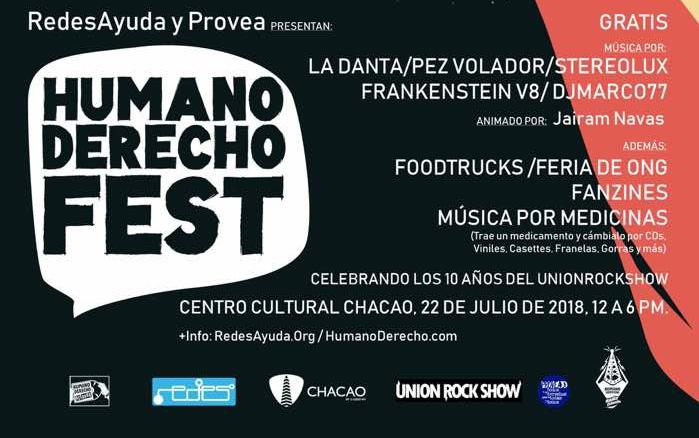 Humano Derecho Fest celebrara los 10 años de Unión Rock Show, Venezuela