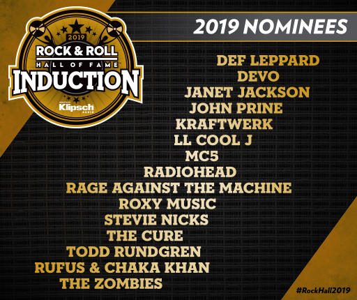 Nominados al Rock And Roll Hall Of Fame 2019