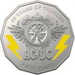 Monedas de AC/DC para conmemorar su 45º aniversario