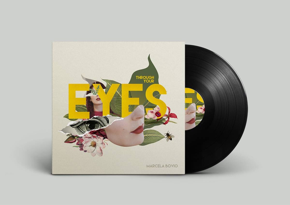 """Through Your Eyes"" de Marcela Bovio en vinyl, Crowdfunding"