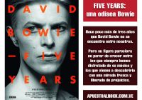 Five Years: una odisea Bowie